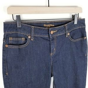 Simply Vera Vera Wang Jeans - 🌷Simply Vera Wang Size 6 Straight Cropped Jeans